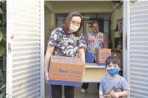 Kit garante alimentação adequada para alunos na pandemia. Foto: Adriana Horvath/PMD
