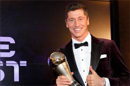 Lewandowski supera Messi e Cristiano Ronaldo e é eleito melhor jogador do mundo