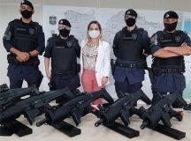 Em Santo André, novos equipamentos entregues por Sastreserão destinados para equipes táticas da Romu. Foto: Divulgação