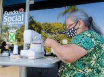 Iniciativa do Fundo Social de Solidariedade convoca costureiras para produção de máscaras. Foto: Alex Cavanha/PSA