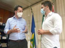 Recurso foi anunciado pelo deputado federal Alex Manente em visita ao prefeito Paulo Serra. Foto: Angelo Baima/PSA