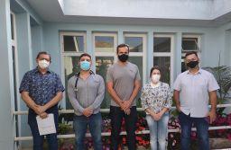 Grupo do Interior de São Paulo conheceu os protocolos e procedimentos de atendimento aos pacientes em recuperação da covid-19 . Foto: Divulgação/PMETRP