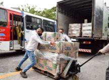A Suzantur doou 500 cestas básicas para a campanha. Foto: Adriana Horvath/PMD