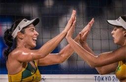 Duplas brasileiras do vôlei de praia vencem e avançam às oitavas na Olimpíada