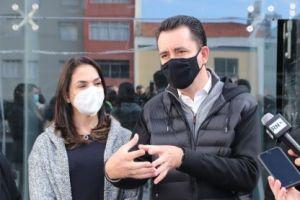 """Ana Carolina e Paulo Serra: """"té o aniversário da cidade, em abril, a gente devolve esse espaço para a cidade com perfil mais moderno, com vários usos"""". Foto: Divulgação/PSA"""