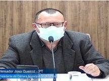 """Josa: """"temos de dar os parabéns para o Filippi por conseguir apresentar projeto tão importante num período tão curto de mandato"""". Foto: Reprodução/TV Câmara"""
