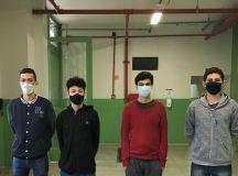 Thiago Costa, Thiago Rodrigues, André Abreu e Gustavo Felipe integram grupo que criou o protótipo. Foto: Arquivo pessoal