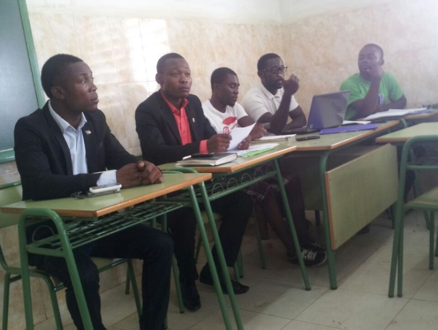Algunos representantes de estudiantes reunidos.