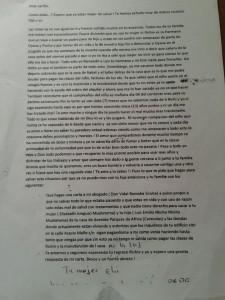 Carta de la esposa de D. Noberto. Ampliar imagen