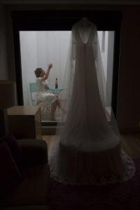 Vestido de novia. Javier Flores.