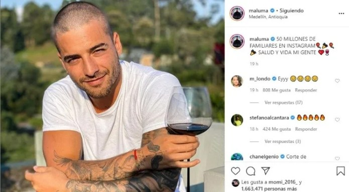 Maluma celebrated his 50 million followers with a sexy makeover