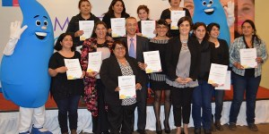 Esval y Sernam certifican a las primeras 17 mujeres en instalaciones sanitarias y gasfitería