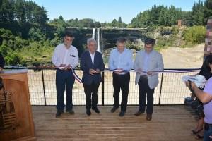 Eléctrica Puntilla y Masisa inauguran Parque Mirador Salto del Itata
