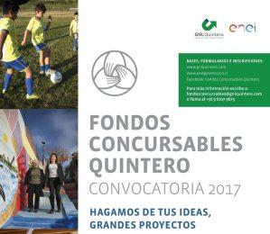 GNL Quintero y Enel Generación Chile convocan al primer proceso de Fondos Concursables Quintero de 2017