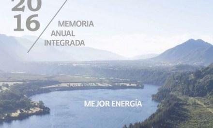 Colbún publica su Memoria Integrada 2016