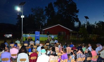Transelec inauguró primera etapa de iluminación con paneles fotovoltaicos en Rincón de Pataguas