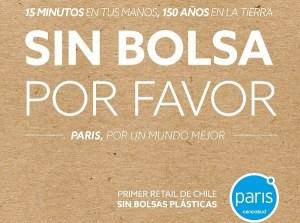 Paris primer retail de Chile en eliminar las bolsas plásticas y entregar sólo bolsas de papel