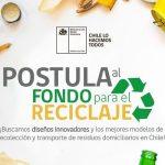 Ministerio del Medio Ambiente abre postulación a Fondo para el reciclaje 2019
