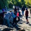 Fundación MERI lidera limpieza de playas en Curahue para proteger vida silvestre de Chiloé