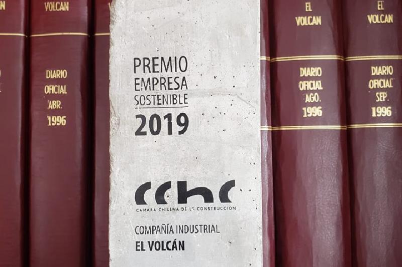 Volcán obtiene premio Empresa Sostenible CChC 2019