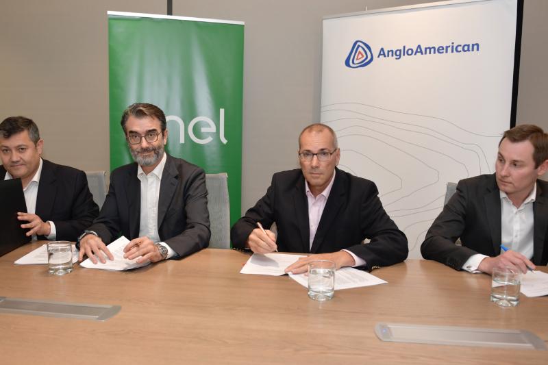Enel Generación y Anglo American firman contrato de energía renovable por 3 TWh