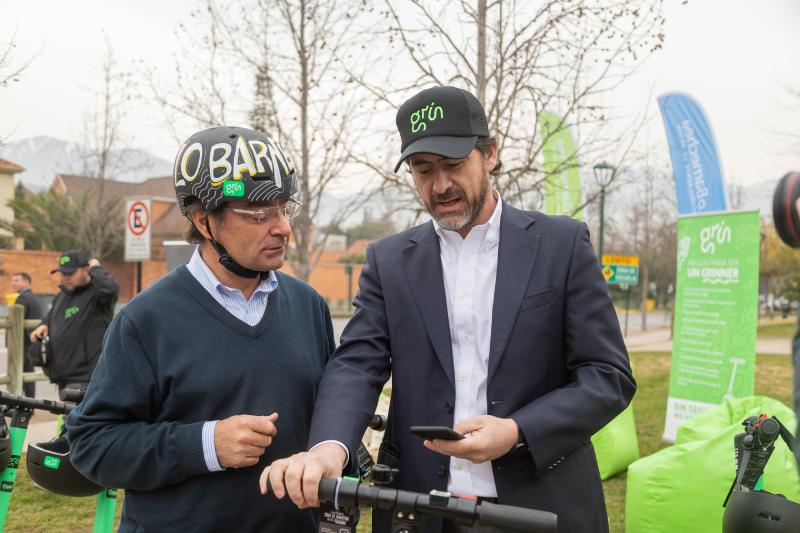 Lo Barnechea cuenta con scooters eléctricos de la empresa Grin