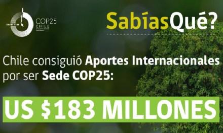 ¿Sabías qué?, Chile consiguió aportes internacionales de US183 millones por ser Sede y Presidencia de #COP25.