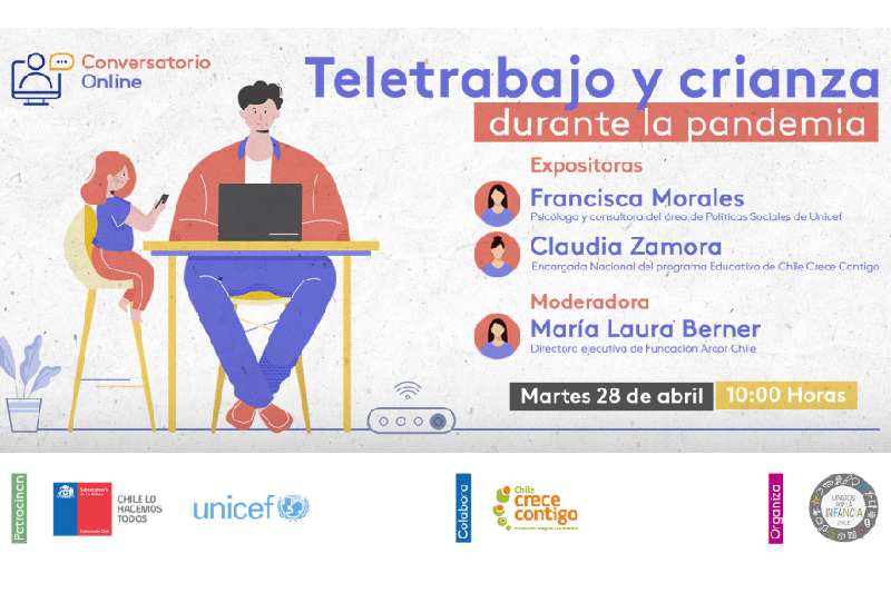UPPI junto a Unicef Chile y Chile Crece Contigo realizarán  Webinar «Teletrabajo, crianza durante la pandemia»
