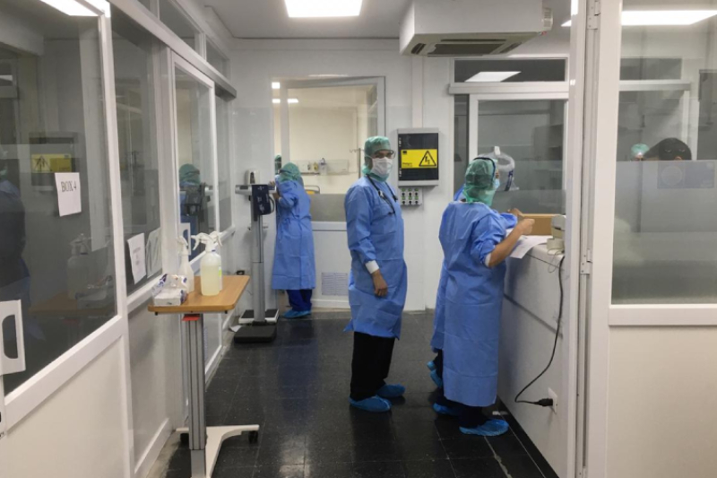 Hospital Luis Calvo Mackenna abre pabellón dedicado a combatir pandemia de coronavirus