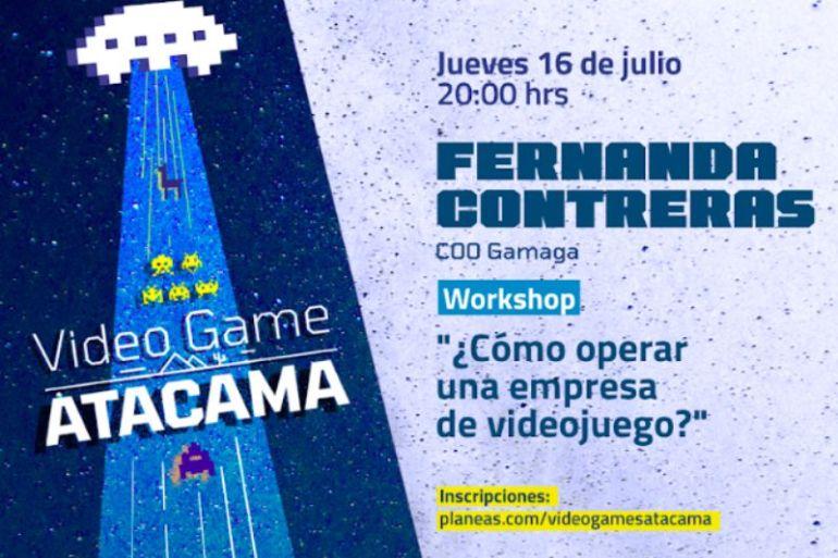 """Fernanda Contreras, COO de la empresa Gamaga, impartirá el taller """"Cómo operar una empresa de Videojuegos"""""""
