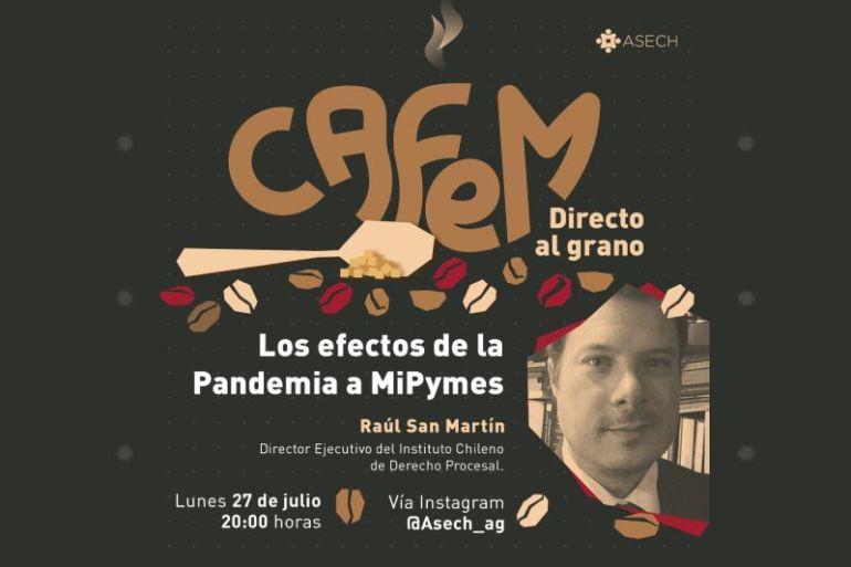 """""""Cafem, directo al grano"""": Asech lanza programa para apoyar a los emprendedores en temas legales"""