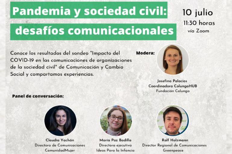 Inscripciones abiertas para conversatorio sobre los desafíos comunicacionales de fundaciones y ONGs ante el covid-19