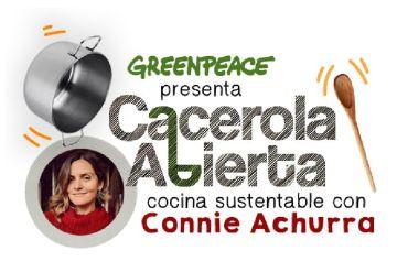 """Greenpeace y nuevo IGLive """"Cacerola Abierta"""": """"Connie Achurra, Mariana Digirolamo y Camila Recabarren juntas para enseñar a bajar la huella hídrica en las cocinas chilenas""""."""