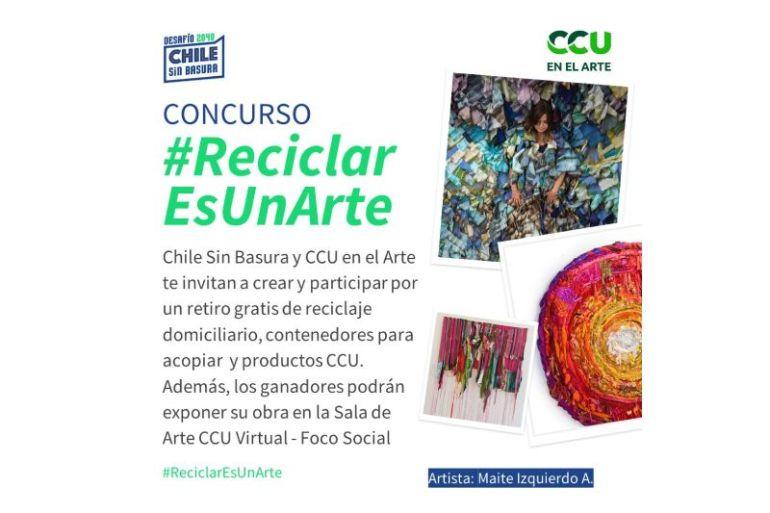 #ReciclarEsUnArte: Chile Sin Basura y CCU convocan a concurso para promover el arte y el reciclaje