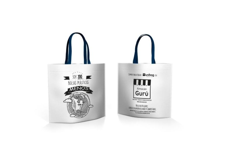 Almacén Gurú y Unibag se unen para entregar bolsas reutilizables en los almacenes de barrio