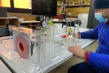 Dispositivo certificador de mascarillas quirúrgicas fue desarrollado en Laboratorio de Prototipado del Centro de Innovación de la Universidad de Santiago