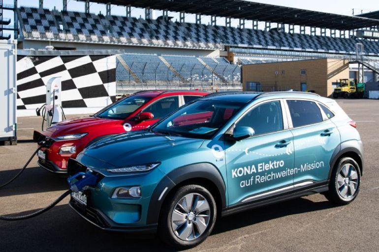 Hyundai Kona eléctrico establece nuevo récord de autonomía