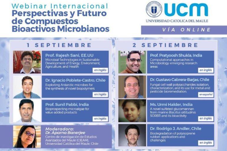 Inscripciones abiertas para seminario internacional online sobre las perspectivas y futuro de compuestos bioactivos microbianos