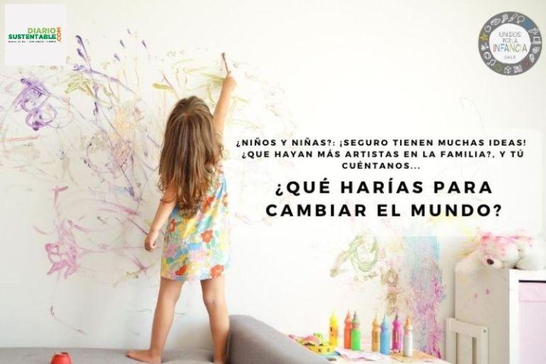 Queremos conocer la opinión de niños y niñas: ¿Qué harías para cambiar el mundo?, ¡Cuéntanos a través de un dibujo!