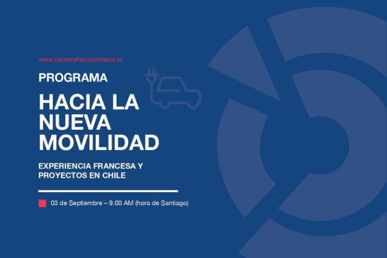 """Webinar """"Hacia una nueva movilidad, experiencia francesa y proyectos en Chile"""""""
