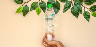 Innovadora botella de agua es fabricada 100% en base a plantas