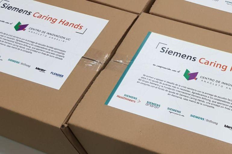 Donan seis mil escudos faciales en Chile para enfrentar crisis sanitaria gracias a financiamiento alemán