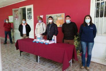 Minera Lumina Copper Chile y Sindicato N°1 de Trabajadores donan tablet a la Escuela Víctor Sánchez