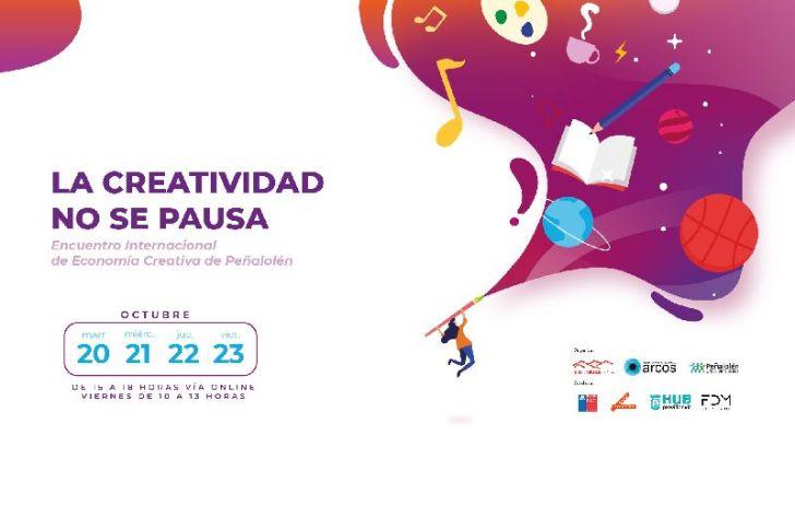 """Peñalolén organiza su primer encuentro internacional de economía creativa """"La creatividad no se pausa"""""""