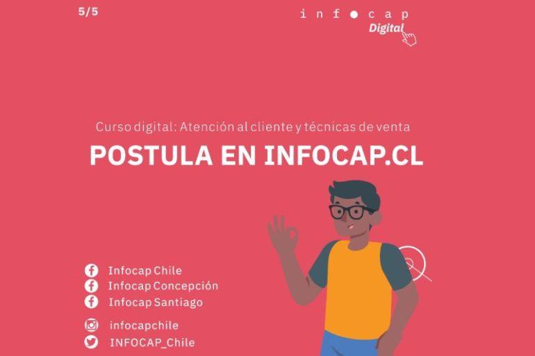 INFOCAP abre nuevos cupos para curso online de atención al cliente y técnicas de ventas