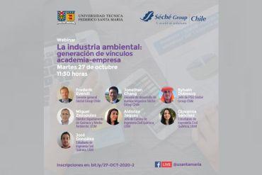 """Webinar """"La industria ambiental: Generación de vínculos academia-empresa"""""""