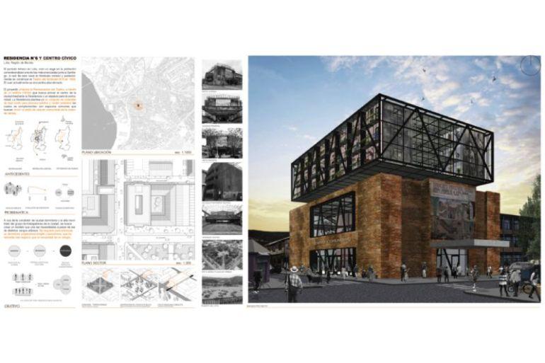 Anteproyecto de recuperación de emblemático edificio en Lota se convierte en el ganador del 34º Concurso CAP para estudiantes de arquitectura