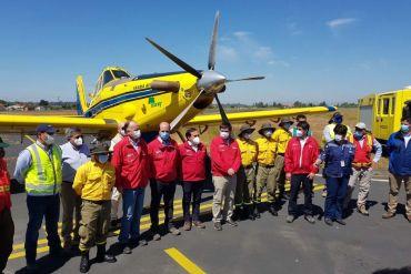 Sector público y privado lanzan plan de protección por incendios en Maule