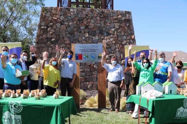 Barrio Chamisero de Colina recibe certificación de Comunidad Sustentable
