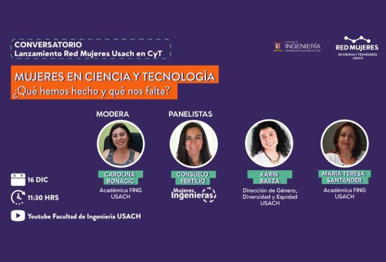 Facultad de Ingeniería USACH lanza Red Mujeres en Ciencia y Tecnología